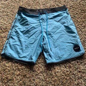 Rvca blue nature shorts